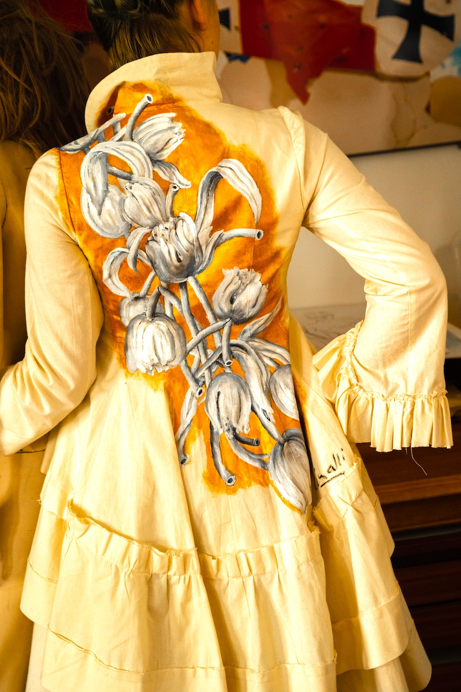 Pained Jacket Flower Jane WIlson Marquis