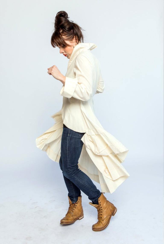 Mimi wearing a Winter Jacket