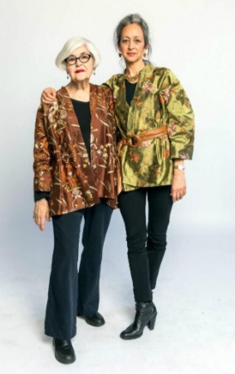 Suzy & Lucille in an embroidered jacket